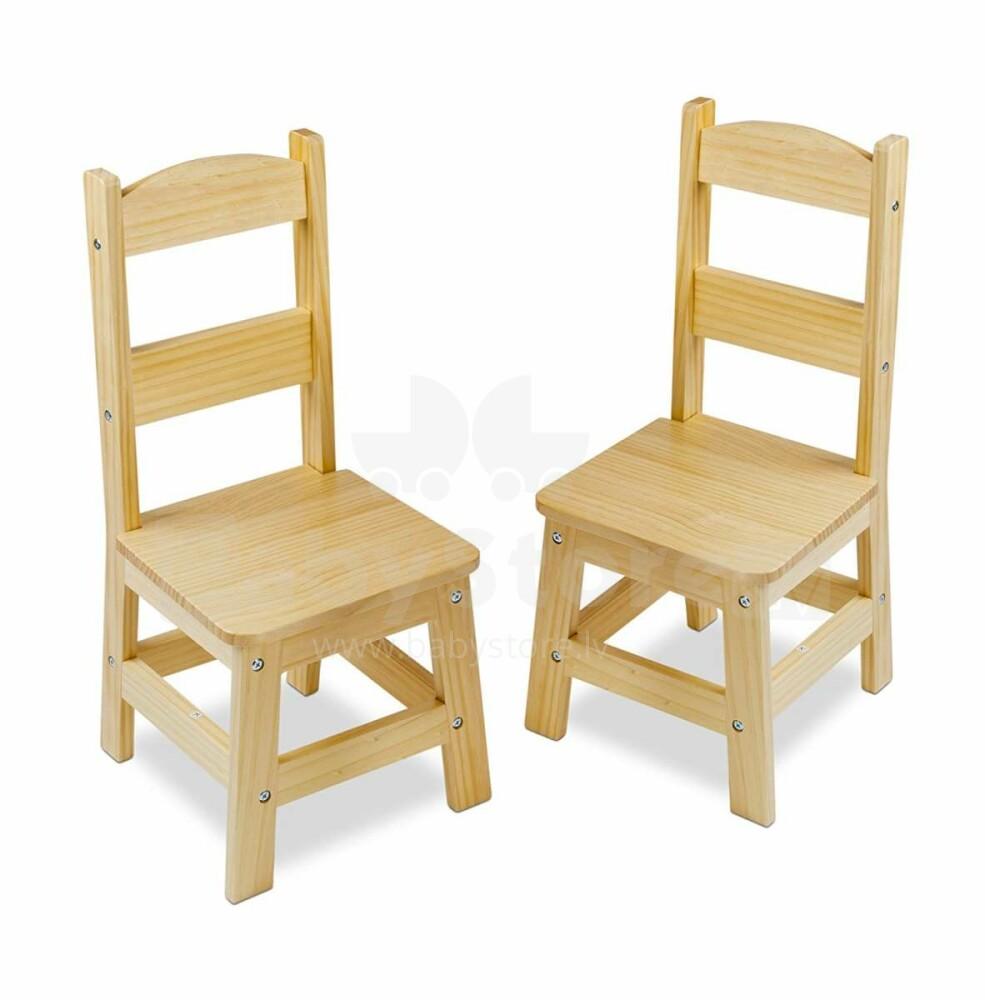 cb49e5e944d Melissa&Doug Wooden Chair Art.18789 Puidust kõrgtoolid, 2 tk ...