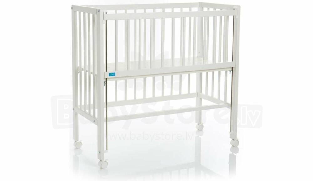 33b0f122c91 Fillikid Bedside Crib Cocon Art.533-05 White Laste voodi puidust, häll