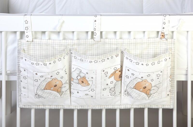 Кармашки на кроватку для новорожденных своими руками