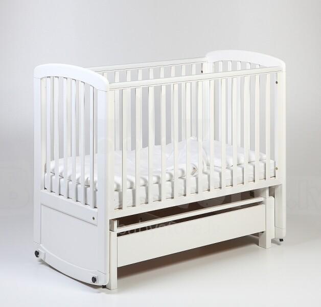 Troll Delux Glider White Art Cot Gn0474 детская деревянная кроватка