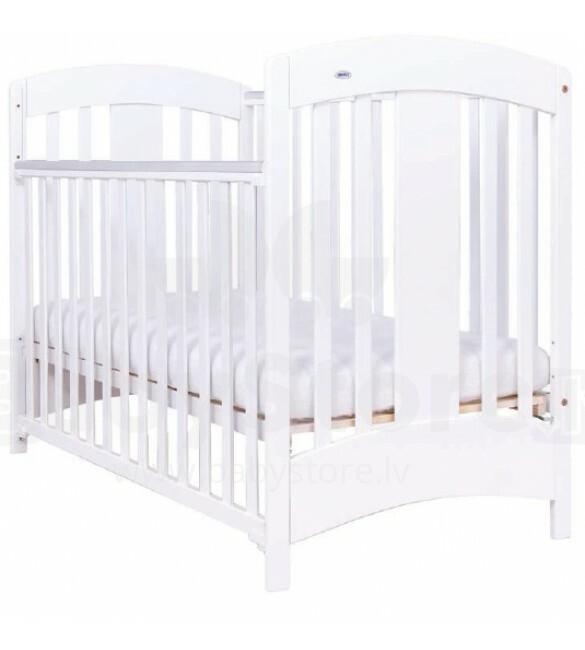 Drewex Natalia Art12659 детская деревянная кроватка с опускающимся боком белая