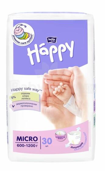Happy Micro Art.102241 autiņbiksītes priekšlaicīgi dzimušiem no 600-1200g , 30gab.