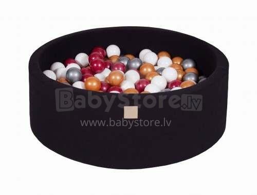 MeowBaby® Color Round Art.104047 Black  Sauss baseins ar bumbiņām(200gab.)