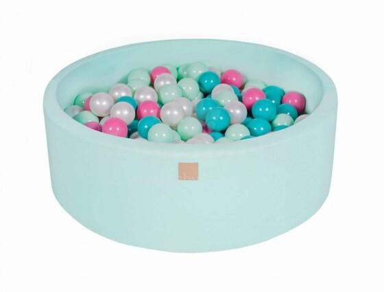 MeowBaby® Color Round Art.104179 Mint  Sauss baseins bez bumbiņam