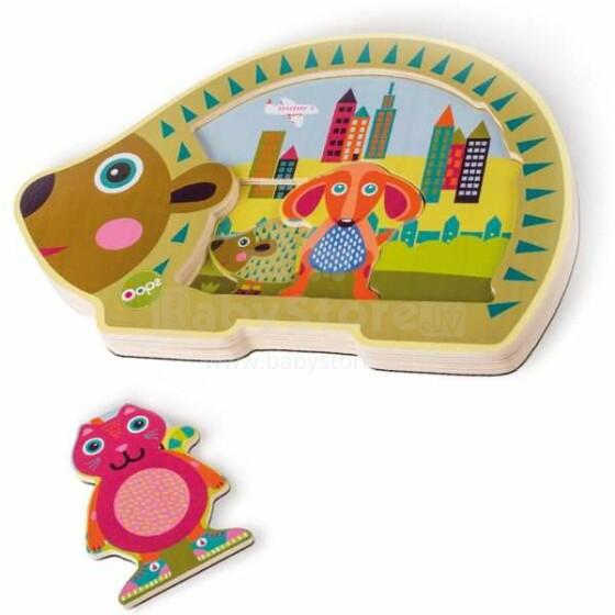 Oops City Art.16008.20 Easy Puzzle Attīstoša koka rotaļlieta puzle