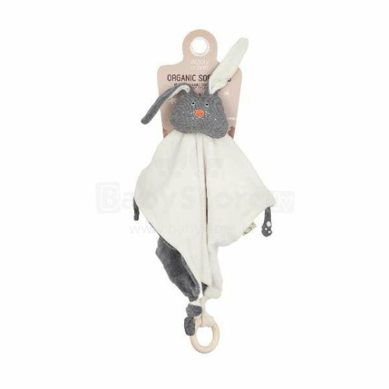 269ea18725b Wooly Organic Bunny Art.109079 Orgaaniline Kaisutekk Puidust  Närimisrõngaga, ÖKO puuvillast, 100%