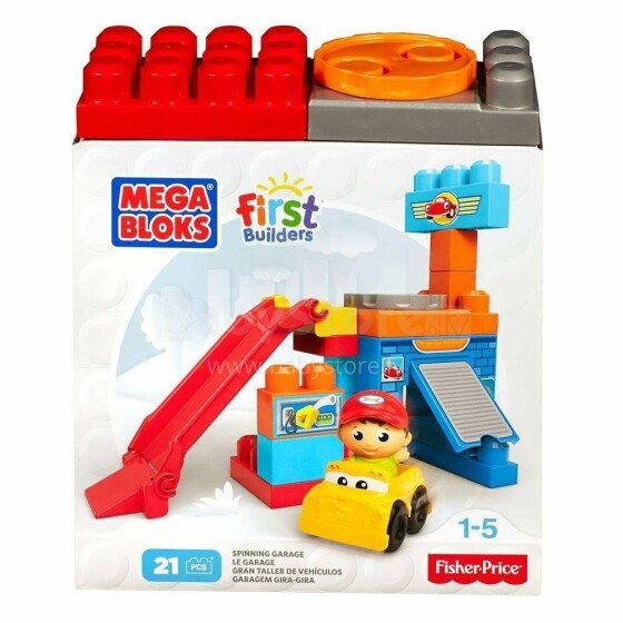 Mega Bloks Spinning Garage Art.DXH85 Konstruktors maziem, 21 det.