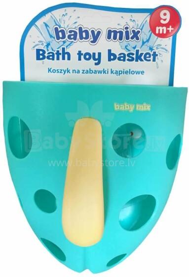 Babymix Art.BH-708 Mint bērnu vannas rotaļlietu spainītis