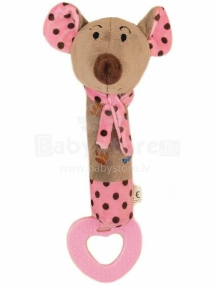 Baby Mix Mouse Art.16058P Grabulis mīksts ar pīkstuli