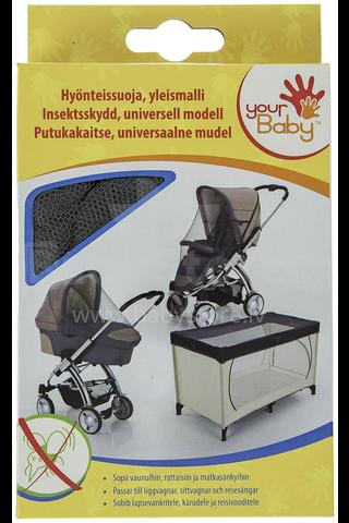 Universālais anti moskītu tīkls bērnu ratiem (gultiņām)