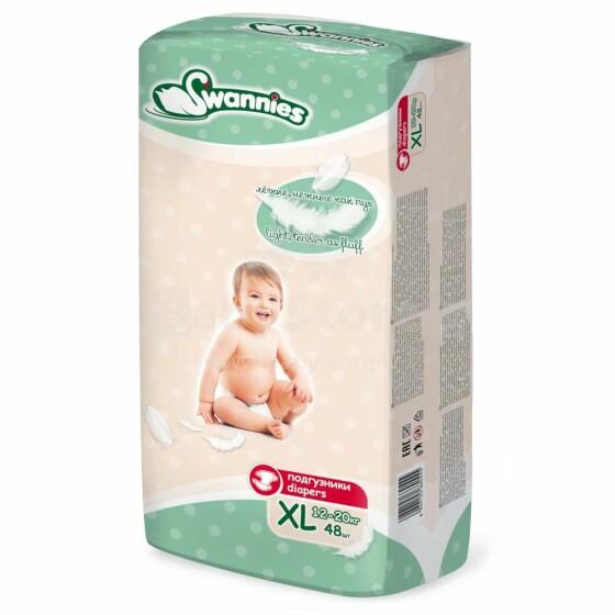 Swannies Diapers Art.117857 Bērnu autiņbiksītes XL izmērs no 12-20kg, 48gab.
