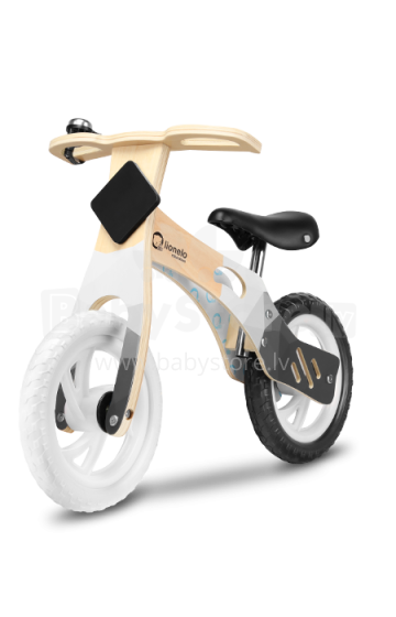 Lionelo Balance Bike Willy  Art.117908 Carbon  Bērnu skrējritenis ar koka rāmi