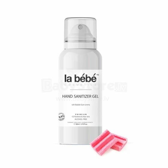 La bebe™ Cosmetics Hand sanitizer Gel  Art.127254  Roku dezinfekcijas līdzeklis  bērniem ar bubble gum smaržu, 80ml