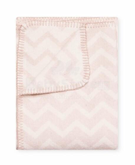 Kids Blanket Cotton  Zigzag Art.14097 Pink  pleds/sega bērniem 100x140cm,(B kvalitātes kategorija)
