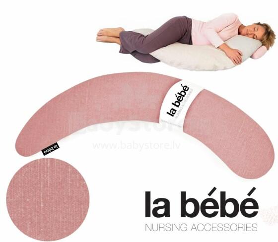 La Bebe™ Moon Maternity Pillow Art.2989 Old Rose Liels spilvens grūtniecēm ar memory foam (īpaši mīksts un kluss pildījums, kas pielagojas ķermenim) 185cm