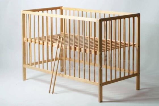 Baby Crib Club Wood  Art.56255 Bērnu kokā gultiņa