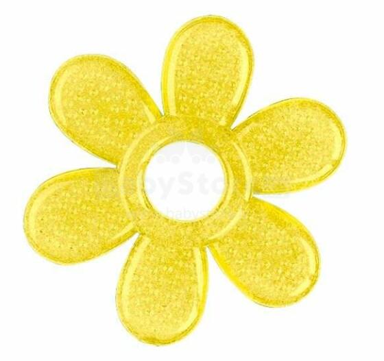 BABYONO Gēla masētājs smaganam 3m+ DAISY 1060 dzeltens