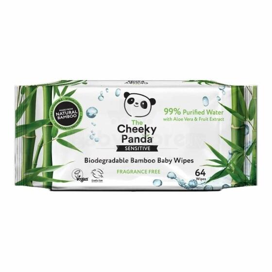 The Cheeky Panda Bamboo Baby Wipes Art.89927 Bērnu mitrās salvetes no dabīga bambusa,64 gab