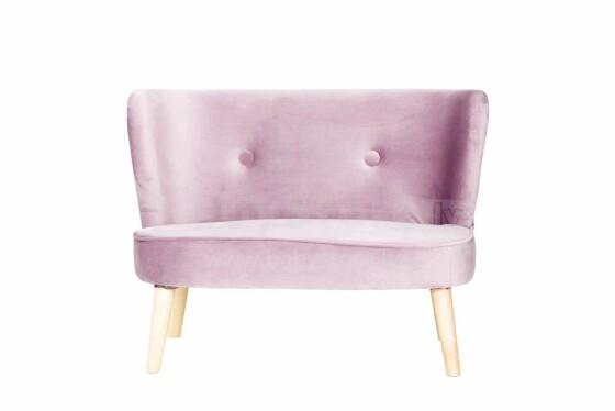 Drewex Retro Sofa Art.91705 Pink Bērnu mīkstais dīvāns