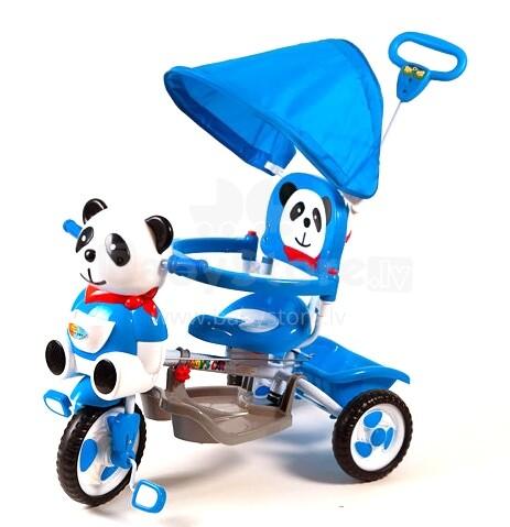 Babymix ET-A23-2 interaktīvs bērnu trīsritenis ar jumtiņu un rokturi panda