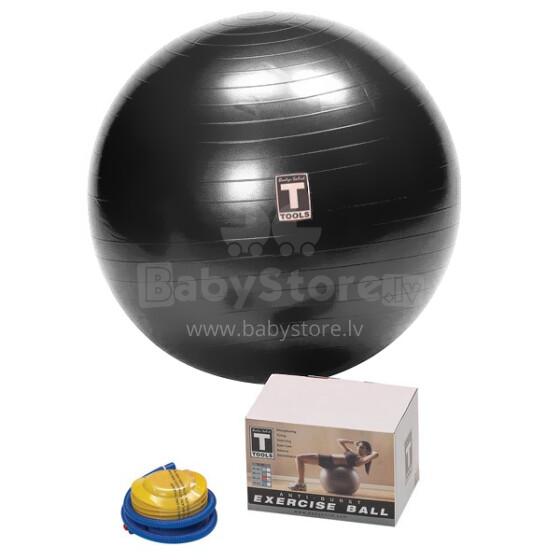 Gymnastikball Fitnessball Sitzball Art.55447805 Fitnesa, Jogas, Vingrošanas bumba, 65 cm Black