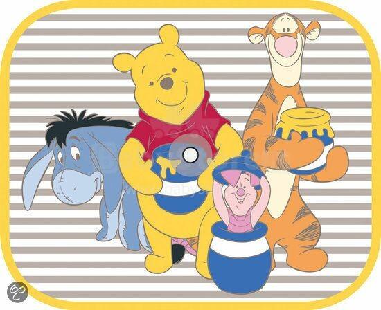 Disney Winnie the Pooh Art.7013016 automašīnas saules aizsargi Vinnijs Pūks