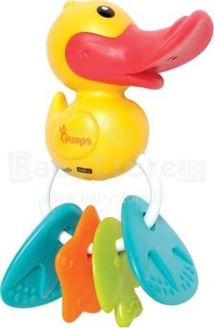 Ouaps Art.61154 Attīstošā interaktīva rotaļlieta-zobgrauznis Pīle ar skaņu