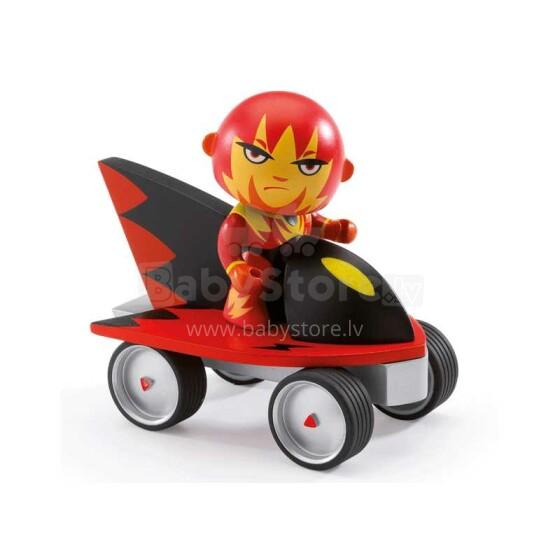 Djeco Superheroes - Firebird & ze jet Art. DJ06935 Attīstoša koka rotaļlieta