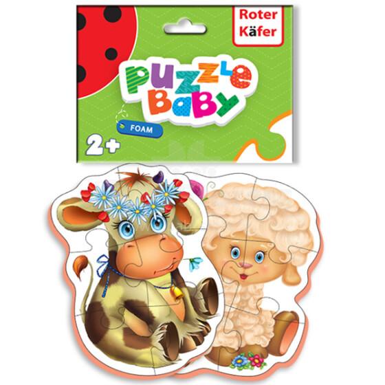 Roter Käfer Baby Puzzle RK1101-01 Bērnu puzzle Mājinieku mīluļi (Vladi Toys)