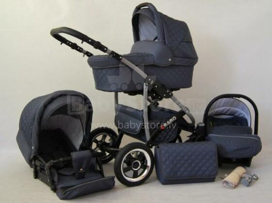 Raf-pol Qbaro Art. 84714 Bērnu universālie jaundzimušo moderni ratiņi ar piepūšamiem riteņiem 2 vienā [viss komplektā]