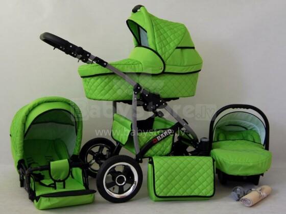 Raf-pol Qbaro Art. 84715 Bērnu universālie jaundzimušo moderni ratiņi ar piepūšamiem riteņiem 2 vienā [viss komplektā]