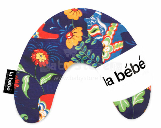 La Bebe™ Mimi Nursing Cotton Pillow Art.3314 Dala Horse Pakaviņš spilventiņš 19x46cm