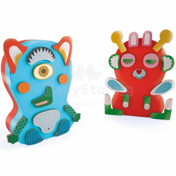 Djeco Wooden games Monstro Art.DJ03081 Attīstoša magnētiska spēle Monstri