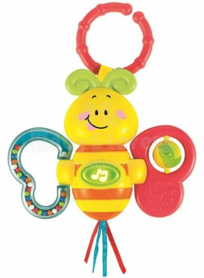 Smily Play Art.0626 Muzikāla interaktīva rotaļlieta Bitīte ar skaņas un gaismas efektiem