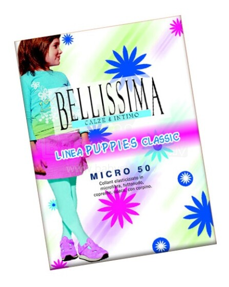 Bellissima Art.75982 Linea PUPPIES Classic Micro 50  BLACK  Bērnu zeķubikses no mikrofibras (6-12 izm.)