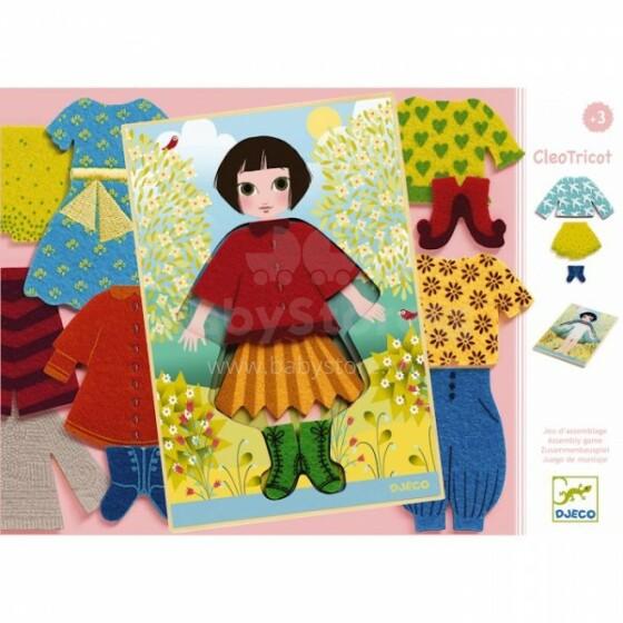 Djeco Jojotricot Art.DJ01697 Izglītojošaspēle–Apģērb Kleo!
