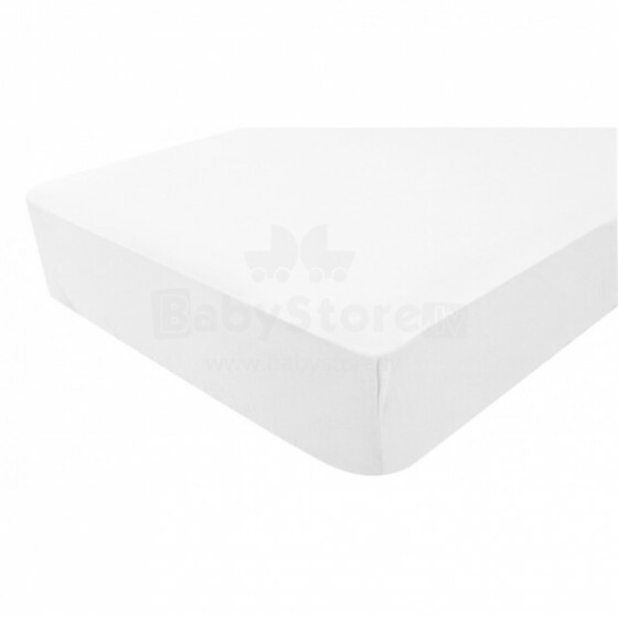 Doux Nid Housse Impermiable Blanc Art.1900980 Bērnu matrača ūdensnecaurlaidīgs kokvilna palags  60x120 сm