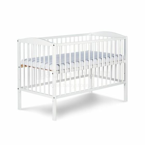 Klups Radek II Balta Art.70751 Bērnu koka gultiņa 120x60 cm