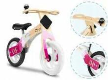 Lionelo Balance Bike Willy  Art.117913 Bubble Gum   Bērnu skrējritenis ar koka rāmi