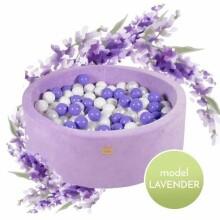 MeowBaby® Color Round Velvet Art.119998  Violet  Sauss baseins ar bumbiņām(250gab.)
