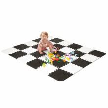 KinderKraft'20 Luno Art.KKMLUNOBLK0000 Black Puzle grīdas paklājs bērniem