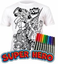 Splat Planet T-Shirt Hero Art.SP70013 Bērnu t-krekls ar flomasteriem