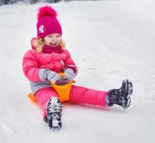 Polesie Slider Art.0224 Klasisks mazs sniega paliktnis kalniņam ar rokturi  (slidināšanās paliknis)