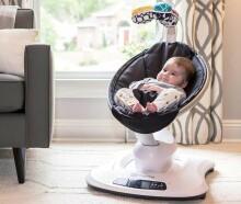 4moms MamaRoo 4.0 Infant Seat Classic Art.16910 Grey Revolucionārs šūpuļkrēsliņš