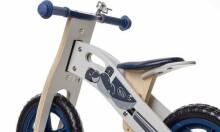 KinderKraft'18 Runner Moto Art.KKRUNNRMOT000Z Jooksurattas puitraamiga tarvikutega