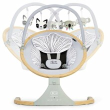 KinderKraft Lumi Wooden Art.67635  Šūpuļkrēsliņs