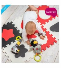 BabyOno Puzzle Art.395/01 Bērnu daudzfunkcionālais grīdas paklājs puzle no 10 elementiem