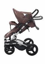 Britton 4Style  Art.B2408 Mocha Bērnu daudzfunkcionāli rati ar kulbiņu un sporta daļu un adapteriem priekš Maxi Cosi autokrēliņa