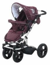 Britton 4Style  Art.B2409 Burgundy Bērnu daudzfunkcionāli rati ar kulbiņu un sporta daļu un adapteriem priekš Maxi Cosi autokrēliņa
