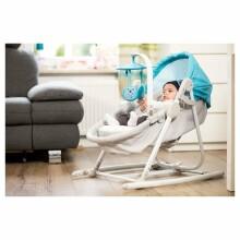 KinderKraft'20 Unimo 5 in 1 Art.KKBUNIOGRY000N Stone Grey bērnu šūpuļkrēsliņš-gultiņa pieci vienā